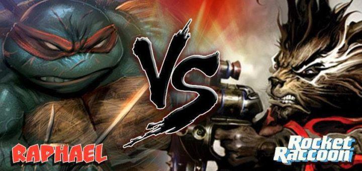 Raphael vs Rocket Raccoon