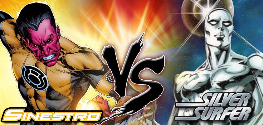 Sinestro vs Silver Surfer