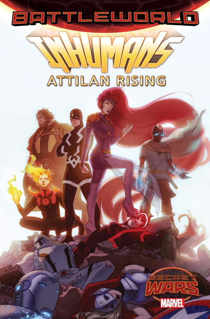 Wariant okładki Inhumans Attilan Rising autorstwa W. Scotta Forbesa