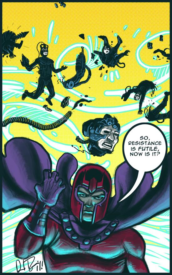 Magneto vs Borg