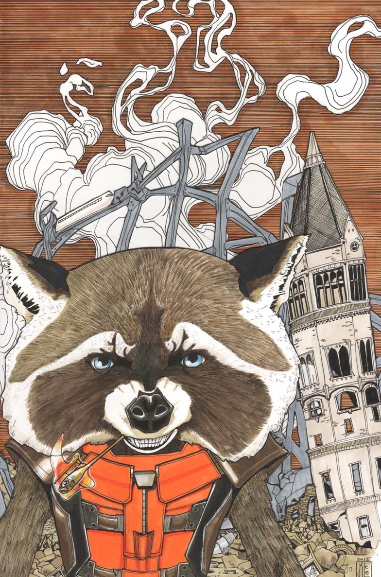 Rocket Racoon #9 by Janet Lee