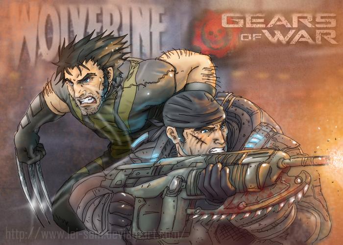 Wolverine x Gears of war