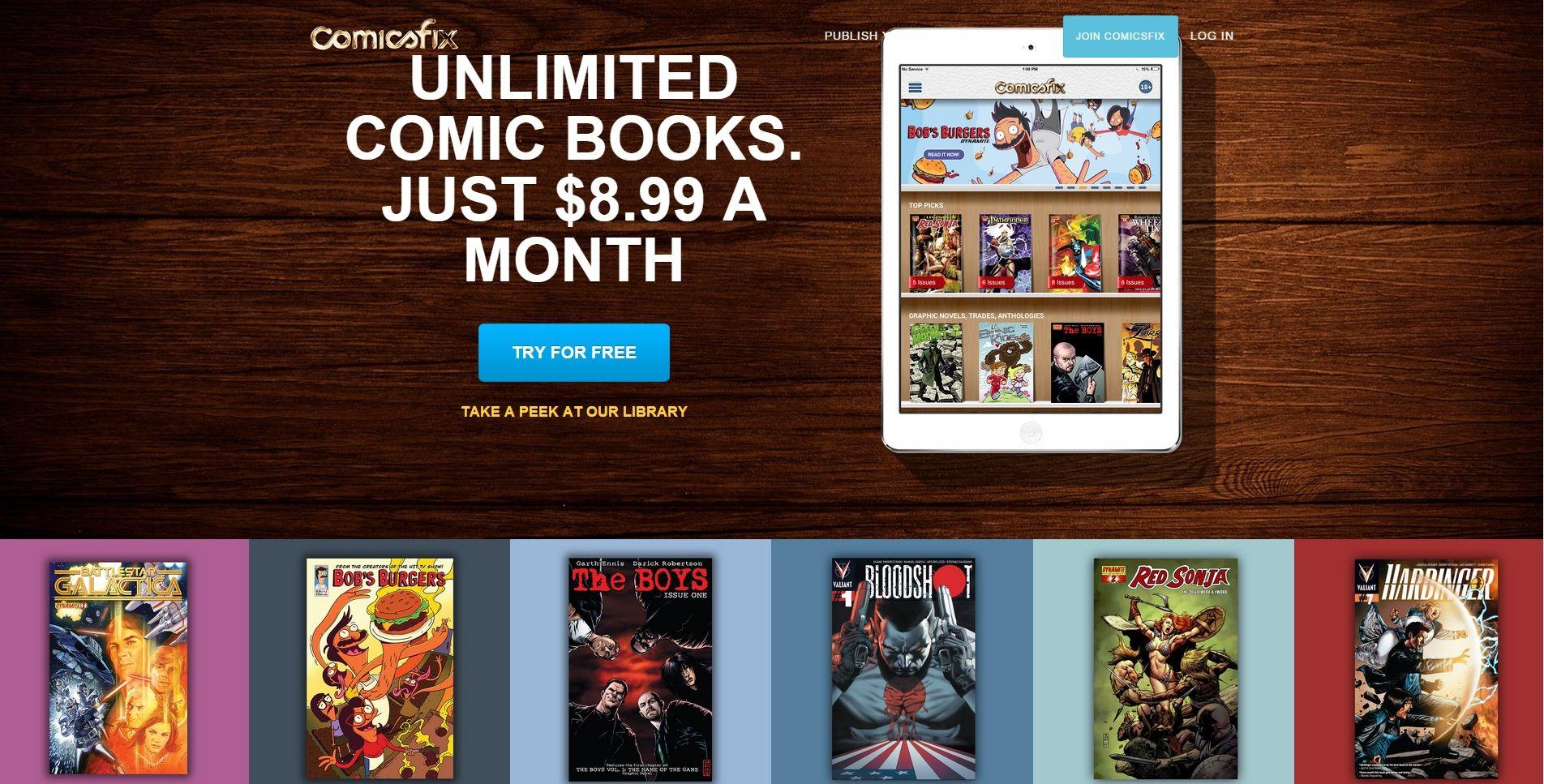 cała masa komiksów za 9 dolców miesięcznie