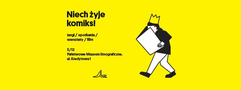 Grafika promo festiwalu Niech żyje komiks
