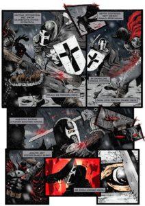 Rycerz Ciernistego Krzewu - plansza z komiksu