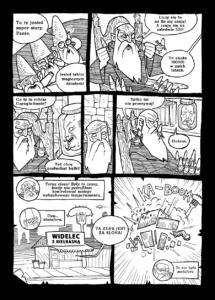 Plansza z komiksu Warchlaki 2