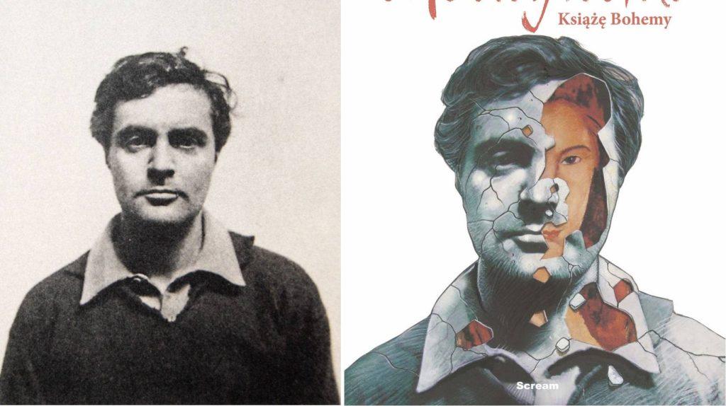Amadeo Modigliani - zdjęcie portretowe v. okładka komiksu