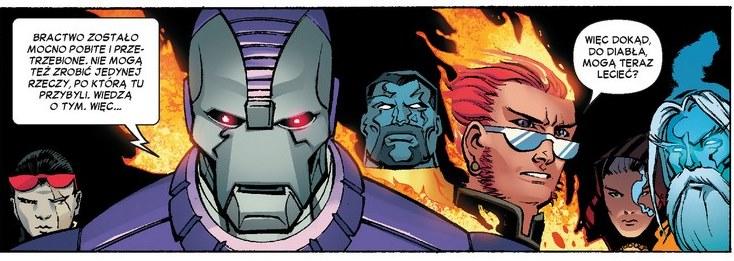 Kadr z komiksu X-Men - Bitwa atomu