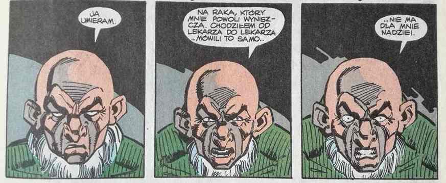 Spider-man - Wzloty i upadki sępa - kadr z komiksu