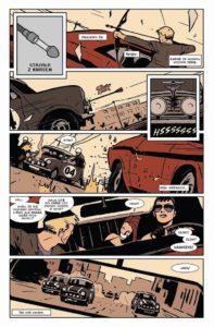 Plansza z komiksu Hawkeye – Moje życie to walka