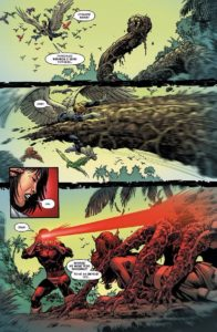 Przykładowa plansza z komiksu X-men - Mordercza geneza