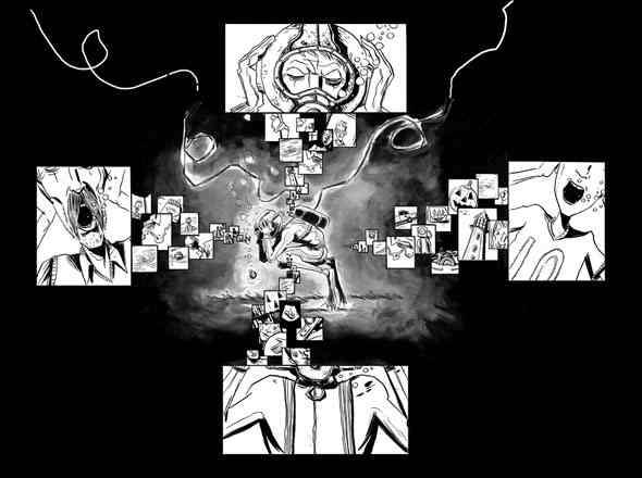 underwater welder - kadr z komiksu