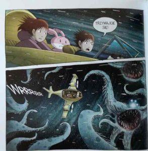 Kadry z komiksu Amulet