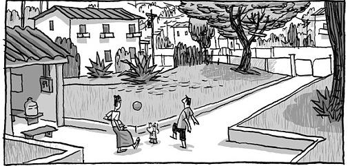 Przykładowy kadr z komiksu Kroniki Birmańskie