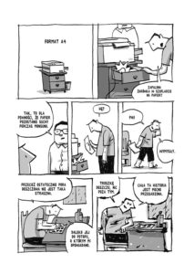 Przykładowa plansza z komiksu Kroniki Birmańskie