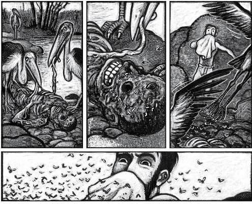 Kadry z komiksu Kongo