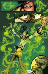Plansza z komiksu Ani chybi magia