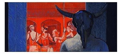 człowiek z czaszką bawoła - komiks Anastazja
