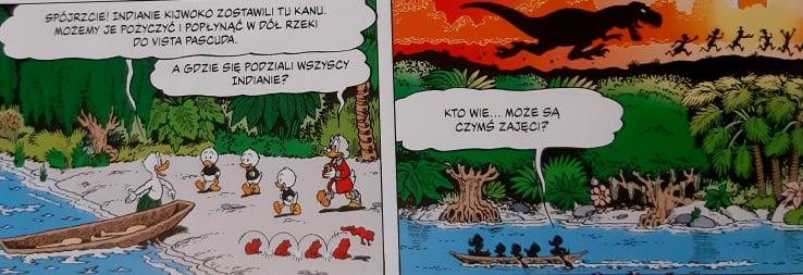 Wujek Sknerus i Kaczor Donald. Ucieczka z Zakazanej Doliny